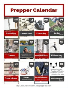 Prepper Calendar