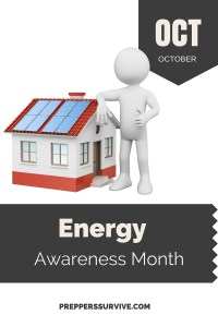 October Energy Awareness Month - Prepper Calender