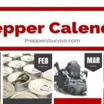 Prepper Calendar Supplies Gathering Plan