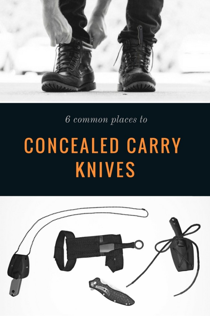 6 Ways to Concealed Carry a Knife - Where to Hide Blades