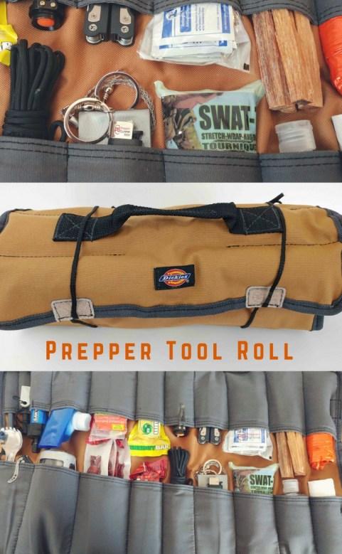 Prepper Tool Roll - Bugout bag organizer - survival roll