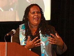 Alika Galloway speaks to the Presbyterian Women Churchwide Gathering in Minneapolis. —Michael Martin