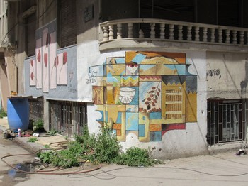 Art painted by residents returning from exile reflects hope in the Syrian city of Homs. —Scott Parker