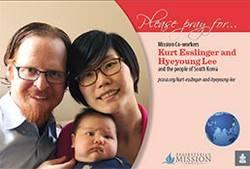 Kurt Esslinger and Hyeyoung Lee prayer card