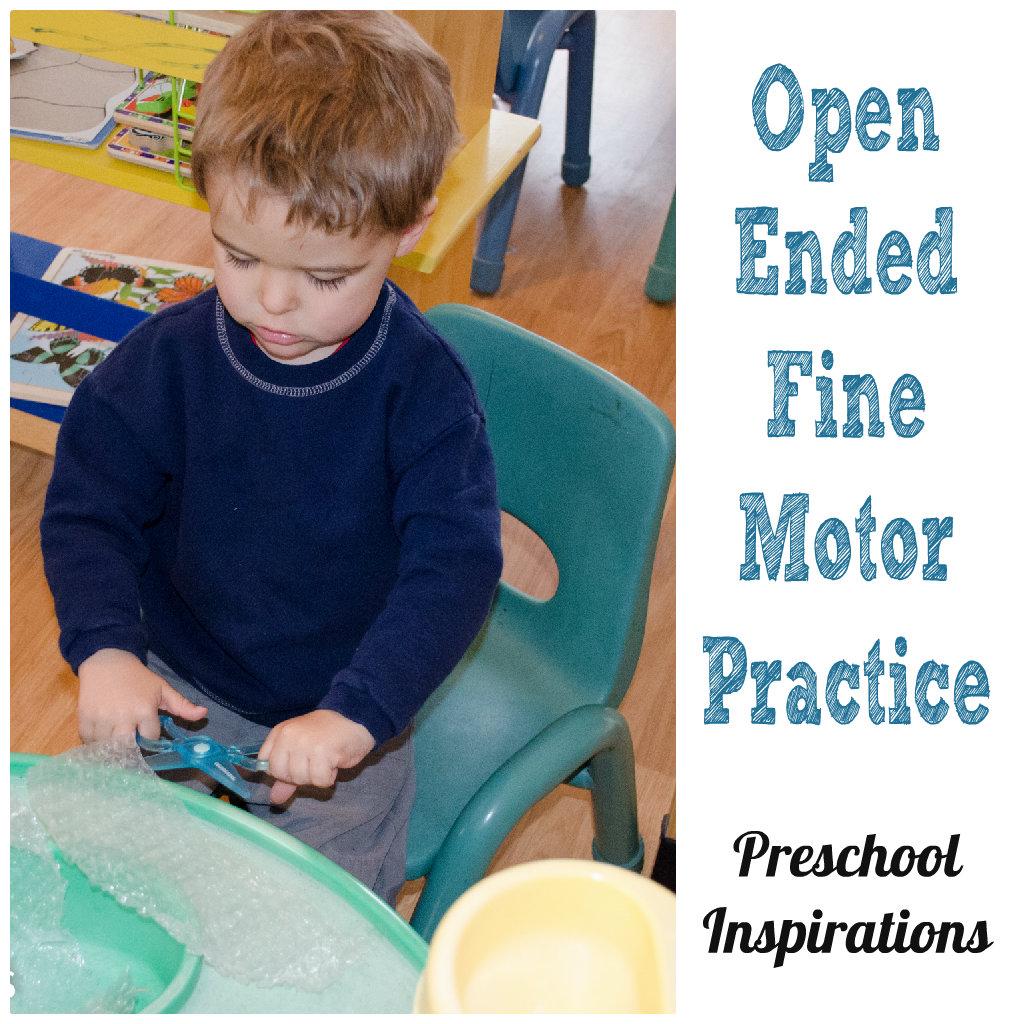 Open Ended Fine Motor Practice