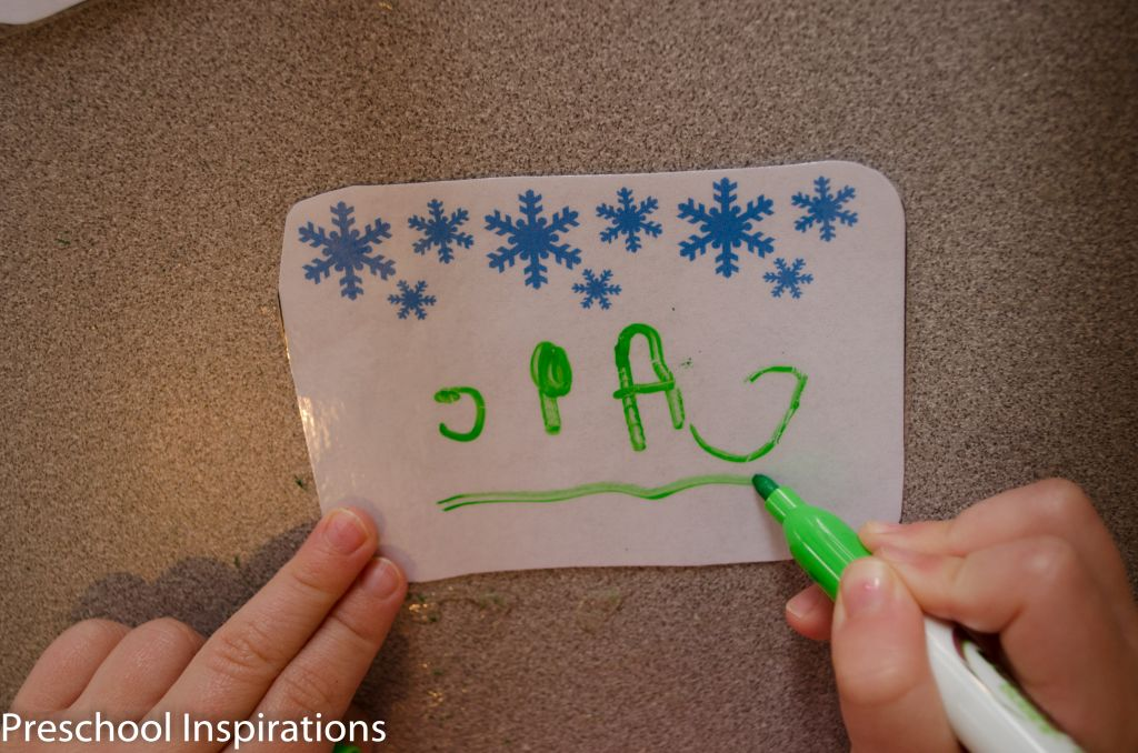 Winter Writing Center Name Tags by Preschool Inspirations-2