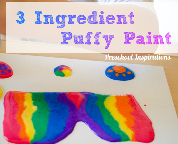 Puffy Paint Recipe on Canvas Art