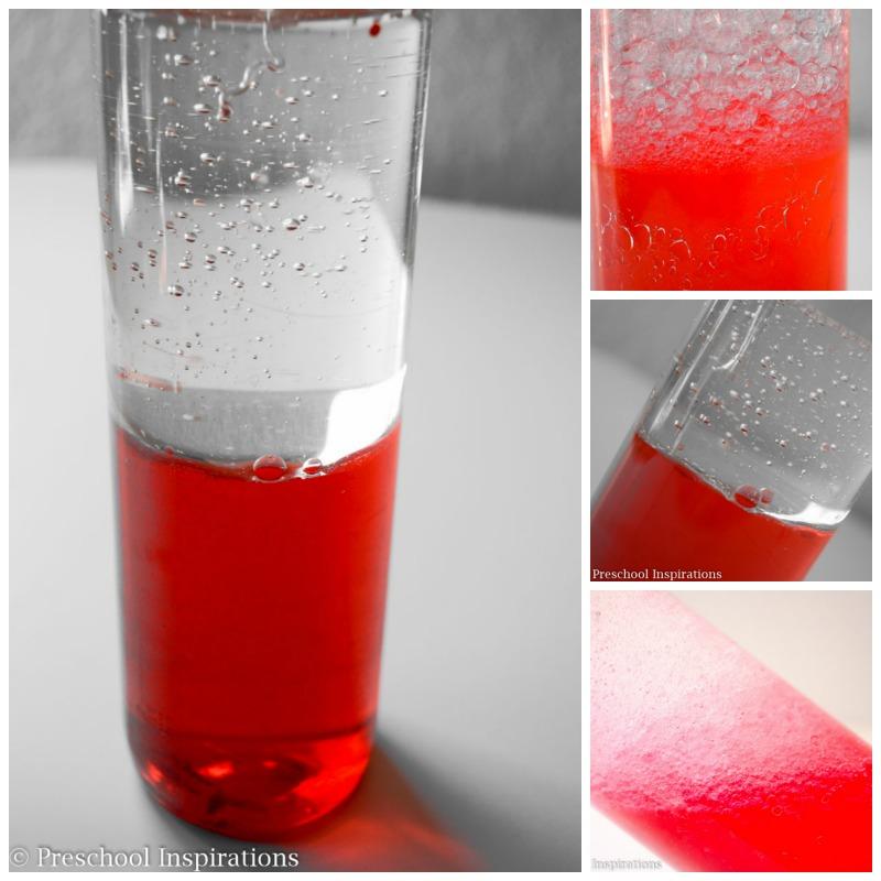 Color Mixing Sensory Bottle Process