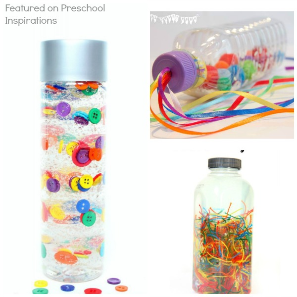 Rainbow Sensory and Discovery Bottles