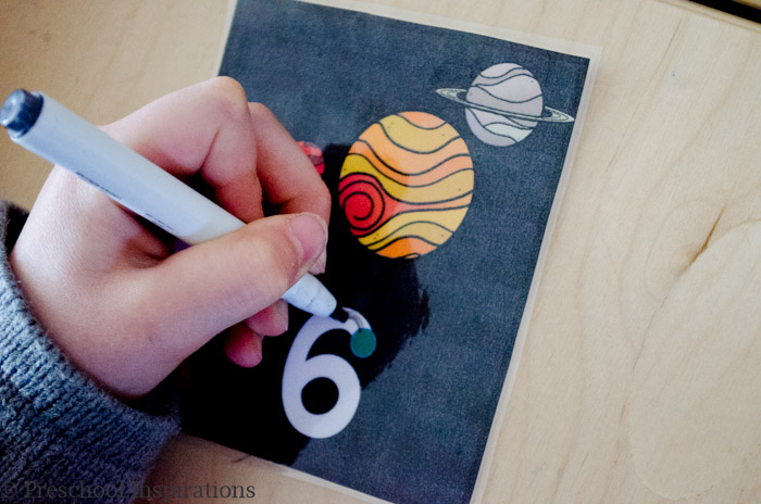 Space Themed Number Writing Practice by Preschool Inspirations-7