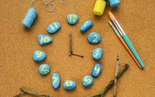 Nature-Inspired Rock Clock