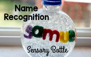 Learn to Spell Your Name Sensory Bottle