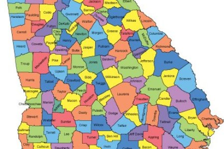 Map Of The Counties In Georgia - Georgia map counties