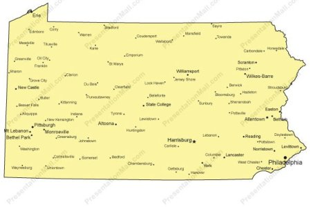 Map Of Pennsylvania Major Cities - Pa map with cities