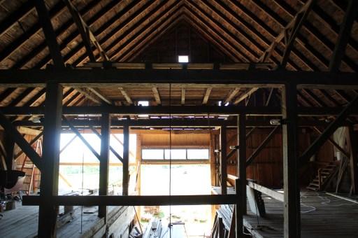 Barn bent framing, from loft
