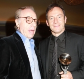 Jason Isaacs with Peter Bogdanovich