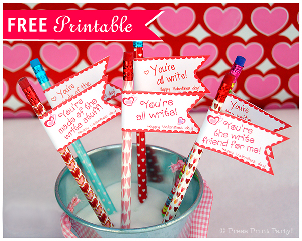 Free Valentine's Day Pencil Toppers Printables
