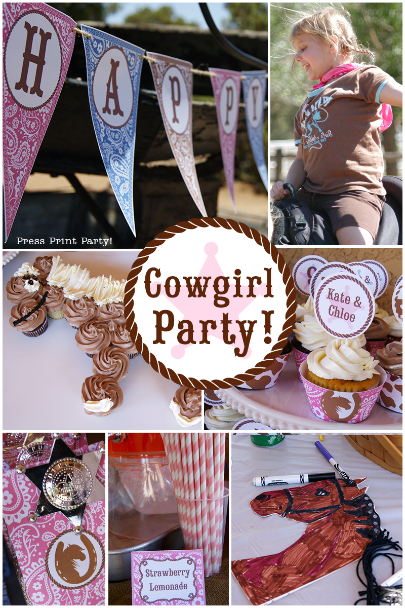 Cowgirl Birthday Western Party in Pink and Brown