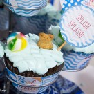 Pool Party Beach Ball Birthday Bash - Ideas and decorations by Press Print Party! Pool Party cupcakes