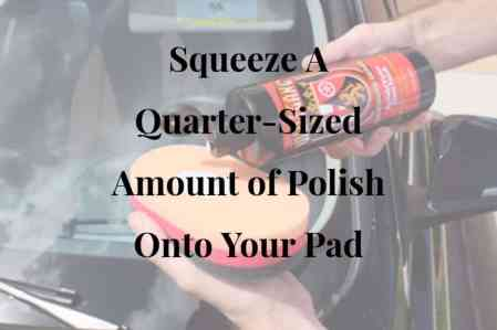 Squeeze A Quarter-Sized Amount Of Polish Onto Your Pad