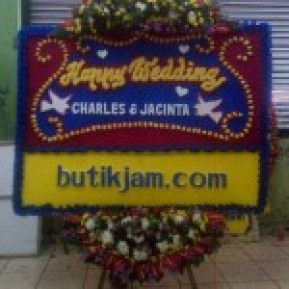 Toko Bunga Online Bunga Papan Wedding di Tebet Jakarta Selatan (BPW-80)