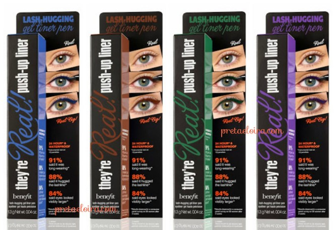 Novedades en Benefit; They're Real! Mascara y Push-Up Liner Colour