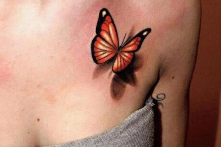 female 3d erfly tattoo design