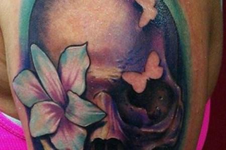 girly skull tattoo ideas