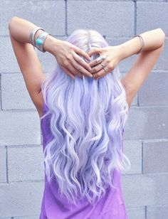 Pale Purple Hairstyle