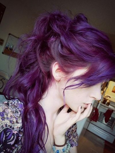 Purple Ponytail Hairstyle