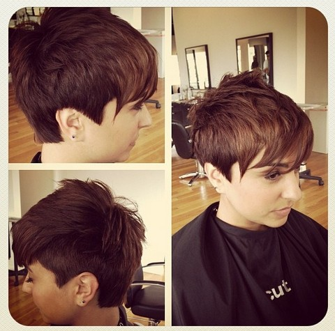 Short Hairstyle Shaved Underneath of 16 by Nancy