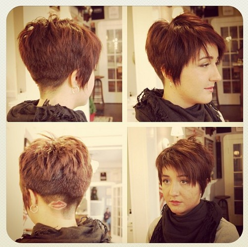 Short Hairstyle Shaved Underneath of 21 by Nancy