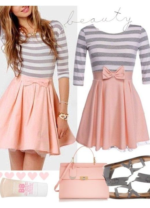 Cute Outfit Idea for Schoolgirls