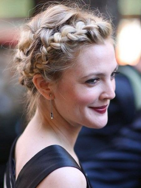 Drew Barrymore Crown Braid