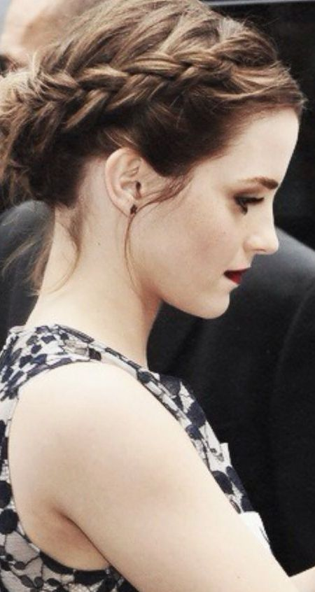 Emma Watson Crown Braid via