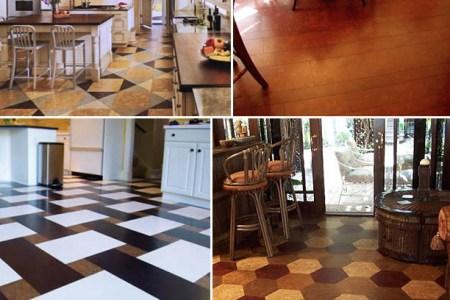 kitchen cork floor ideas