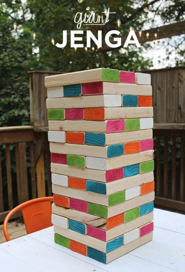 Giant Jenga, 25 Best Backyard Birthday Bash Games