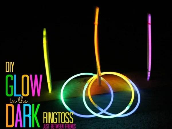 Glow in the Dark Ring Toss, 25 Best Backyard Birthday Bash Games