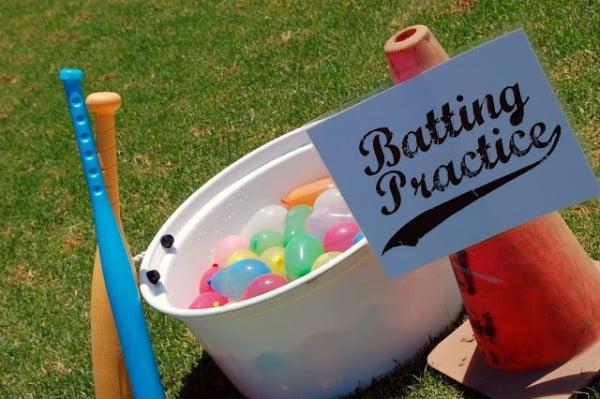 Water Balloon Batting Practice, 25 Best Backyard Birthday Bash Games