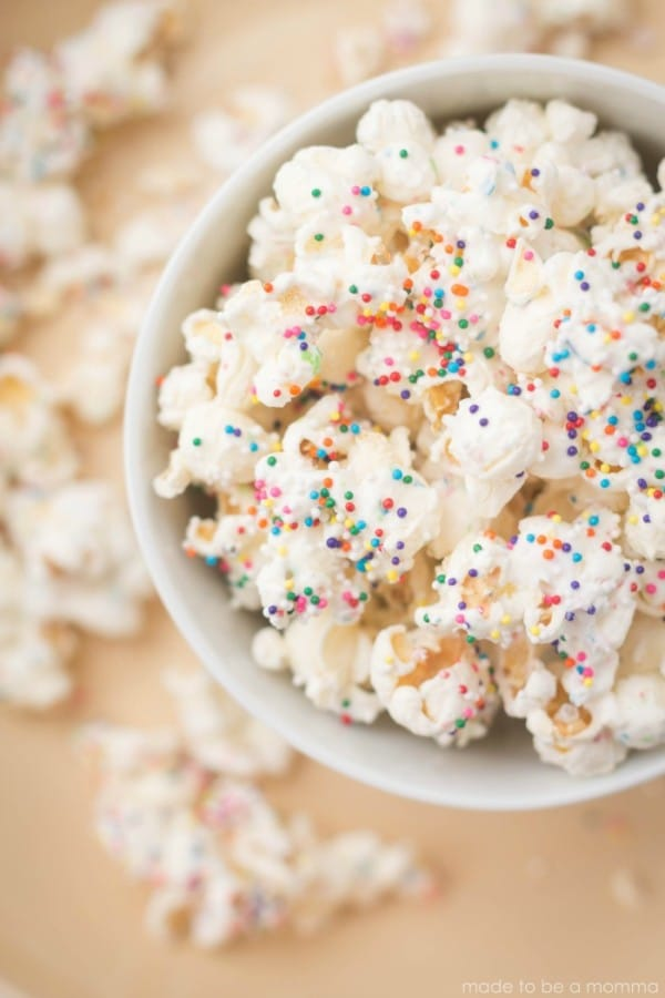 White Chocolate Party Popcorn Toddler Birthday Party Finger Foods Pretty My Party