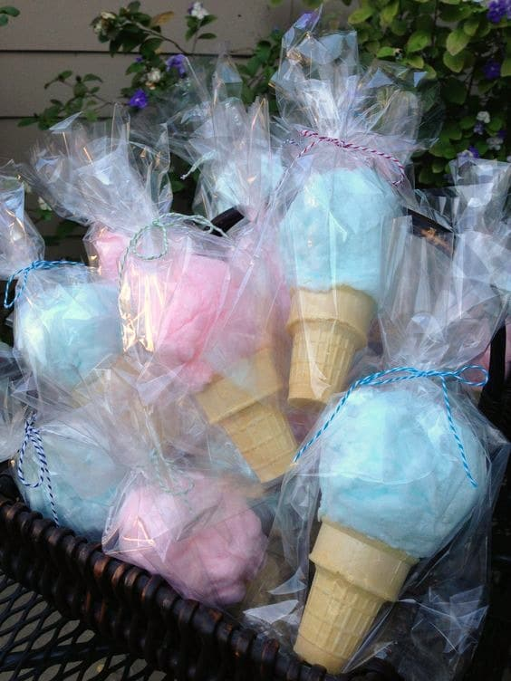 Cotton Candy Cone Favors | Budget Birthday Favor Ideas via Pretty My Party
