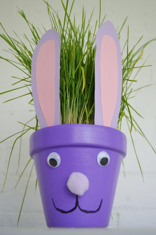Easter Crafts: Easter Bunny Flower Pot