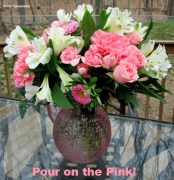 Pour on the Pink Mothers Day Flowers