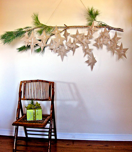 Falling Stars Advent Calendar from Design*Sponge