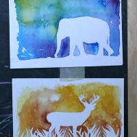DIY: Watercolor Silhouette