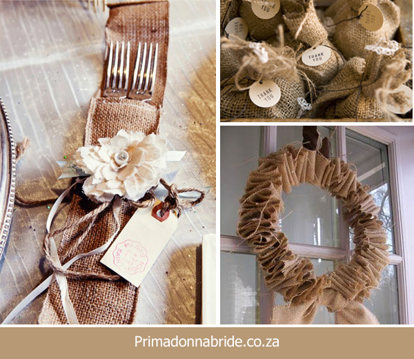 Hessian - wedding ideas
