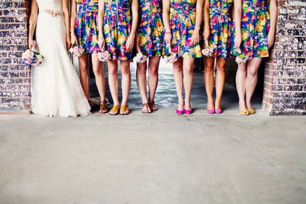 Floral-bridesmaids-dresses