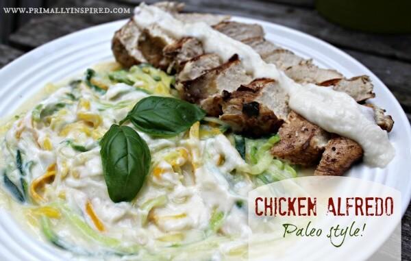 Paleo Chicken Zucchini Alfredo
