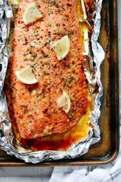 Fashionable Salmon Color What Goes Good Foil Primavera Kitchen 3 What Goes Good Salmon Burgers Garlic Butter Salmon