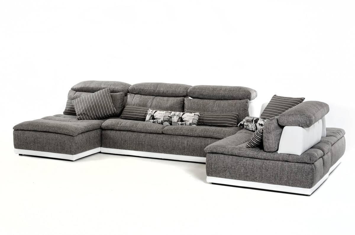 Comfortable Fabric Sectional Sofas Made Italy Grey Fabric Lear Sectional Sofa El Paso Lear Sectional Value City Furniture Lear Sectional Atlanta houzz 01 White Leather Sectional